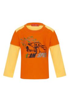 Áo thun bé trai tay dài V.T.A.Kids BT41113C-CV (Cam phối vàng)
