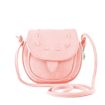 New Fashion Women Mini Shoulder Bag PU Leather Messenger Crossbody Bag Drawstring Handbag Pink (Intl)