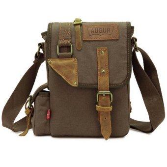 BolehDeals Men's Retro Style Canvas Messenger Bag Shoulder Satchel Crossbody Bag Green - intl