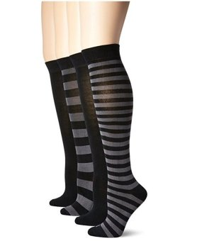 Bộ 4 Đôi Tất Nữ K. Bell Women's Soft Modal Blended Knee High Socks In Solid Colors
