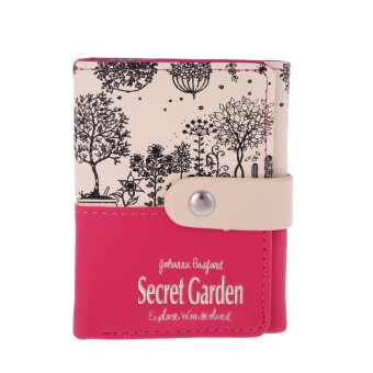 Women Short PU Leather Wallet(Hot pink) - intl
