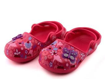 Giày lười bé gái Crocs Karin Butterfly Clog K Ras 202885-652 (Red)
