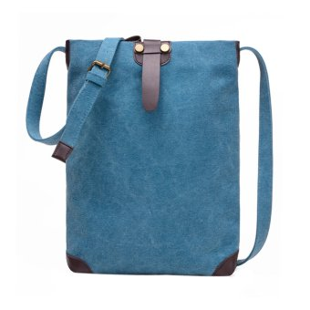 Women Canvas Travel Shoulder Bag Blue - intl