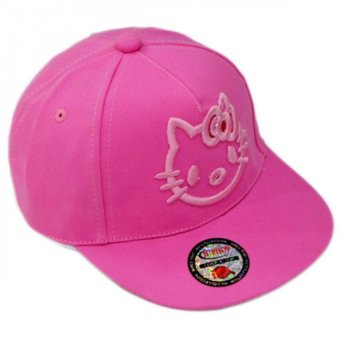 Nón Snapback Pink Kitty Girl Juliecaps (Hồng)