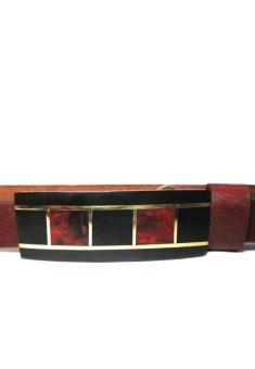 Thắt lưng da bò mặt gỗ hợp kim đồng CoCo Design