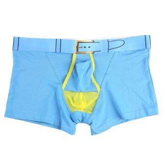 Mens Boxer Briefs Breatheable(Blue) - Intl - intl