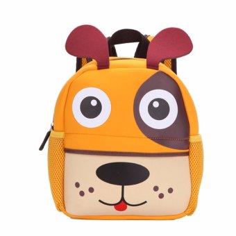 Toddler Kid Children Boy Girl 3D Cartoon Animal Backpack School Bag Rucksack HOT Puppy pattern - intl