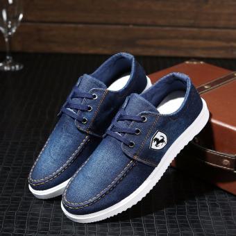 Giày lười jean nam GAPUKY GA2401 (Xanh đậm)