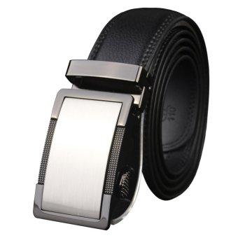 Men Fashion Automatic Buckle Leather Belts - intl