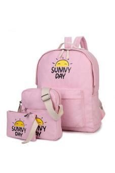Bộ 3 ba lô Sunny Day cao cấp (Hồng PHẤN)