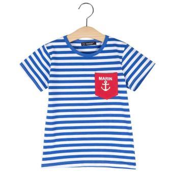 Leisure Cotton Boys Stripes Printed Round Neck T-shirt - intl
