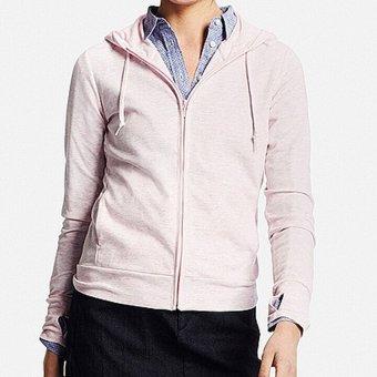 Áo khoác nữ chống nắng Uniqlo (Màu Hồng Xước) - Size S