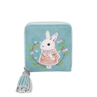 Women Leather Small Mini Wallet Holder Zip Coin Purse Clutch Handbag BU - intl