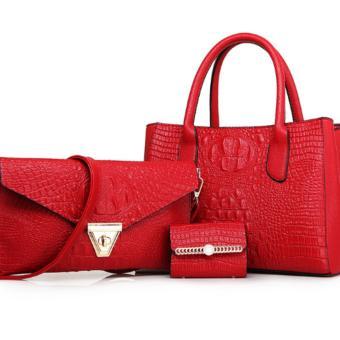 Bộ ba túi ví sang trọng SEXY (đỏ, gold)