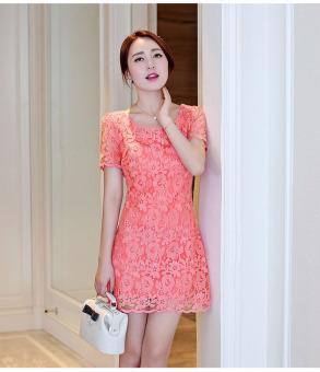 Đầm Ren Như Quỳnh Cam Carot 374200