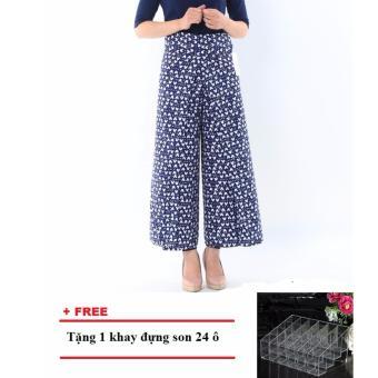 Váy chống nắng dạng quần tiện dụng (Họa tiết) + Tặng 1 khay đựng son 24 ô