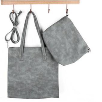 Womens PU Premium Leather Bag Top-Handle Bags Tote Bags Cross Body Shoulder Bags Set of 2 - intl