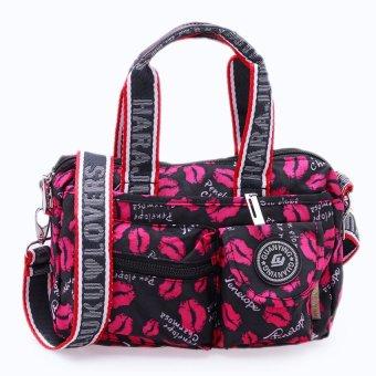 Túi xách thời trang đa năng (hoa văn hình môi)