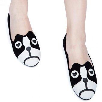Cute Girls Flats Shoes Cartoon Animal Suede Alpargatas #2 - intl