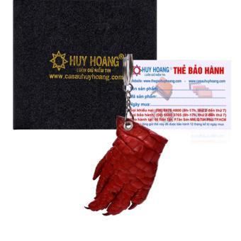 HL8213 - Móc khóa da cá sấu Huy Hoàng màu đỏ