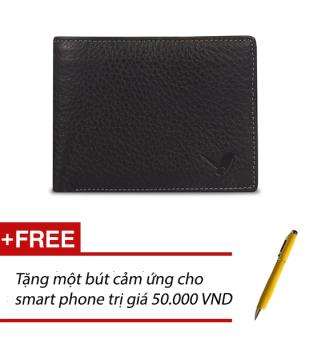 Ví Da Nam Conbonee (Đen) + Tặng một bút cảm ứng cho Smart phone