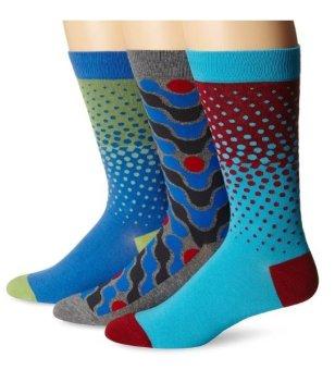 Bộ 3 đôi tất (vớ) nam Bộ 3 đôi tất (vớ) nam K. Bell Men's Two-Toned Dots Crew Socks (Mỹ)