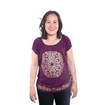 Áo kiểu nữ trung niên Ugether UPAR15 (Tím)