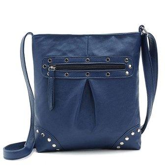 Linemart Women Ladies Leather Shoulder Bags Messenger Hobo Bag ( Blue ) - intl
