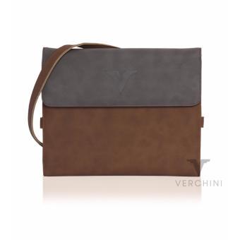 Túi ipad đa năng Verchini màu xám+nâu 003386
