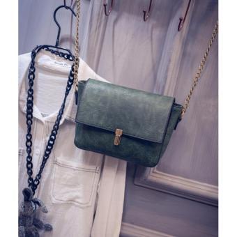 Túi xách da nữ khóa cài thời trang(Xanh)