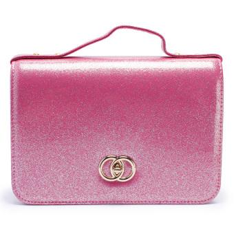 Túi nữ hộp Kim tuyến Happy F MS.137.3 (Hồng)