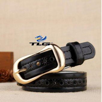 Thắt lưng nữ da dập họa tiết Thành Long TL3921 5(đen)