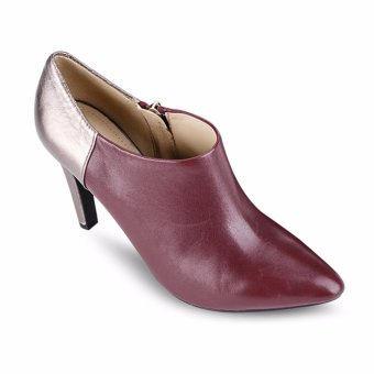 Giày cao gót D CAROLINE A (Xám & Đỏ)