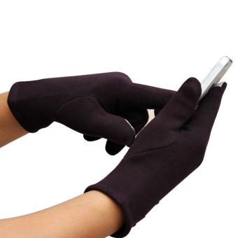 Fashion Womens Touch Screen Winter Outdoor Sport Warm Gloves Khaki - Intl