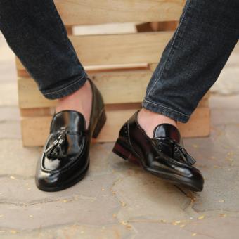 Giày loafer nam cao cấp Kazin màu đen KZD0022