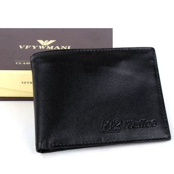 Ví Da Bò H2 Wallet (Đen)
