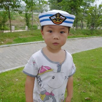 White Sailor Hat Gob Gilligan Cotton Navy Costume Boat Popeye Hen Cap - Intl