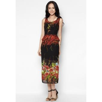 Đầm maxi Peplum