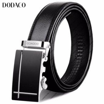 Thắt lưng da nam DODACO DDC08 (Đen bạc)