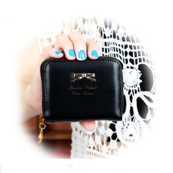 Women Cute Wallet Card Holder Black (Intl)