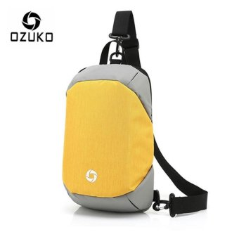 OZUKO Unisex Chest Pack Messenger Bag Creative Anti-theft Bag Oxford Shoulder Bag Casual Fashion Crossbody Bags (Yellow) - intl