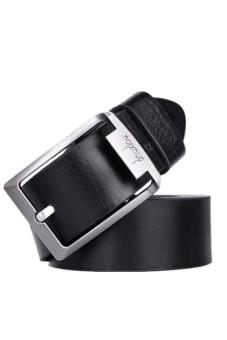 Leather Single Prong Belt (Black)