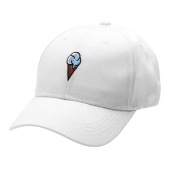 2017 Unisex Snapback Cool Bboy Adjustable Baseball Cap Hip Hop Hat (White) - intl