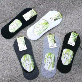 Bộ 5 tất (vớ) nửa bàn chân sợi tre khử mùi nam Hàn Quốc