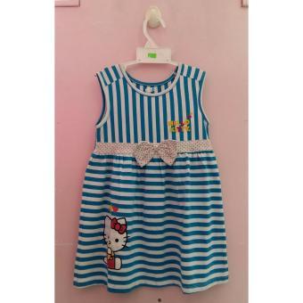 Váy thun cotton kitty xinh xắn cho bé