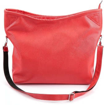 Women Vintage Style Leather Top Handle Cross Body Shoulder Bag (Red) - intl