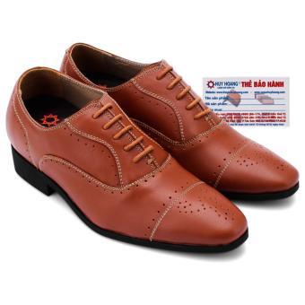 HL7182 - Giày tăng chiều cao Huy Hoàng màu da bò
