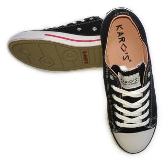 Giày sneaker nữ cổ thấp CODAD CANVAS KARO (Đen)