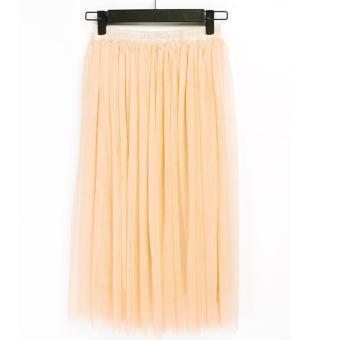 Sunweb Chiffon Maxi Skirt (Beige) - Intl