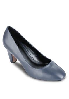 Giày Bít Vuông Gót Thô 7cm